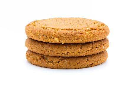 galleta de jengibre: galletas de jengibre, aislado en el fondo blanco Foto de archivo