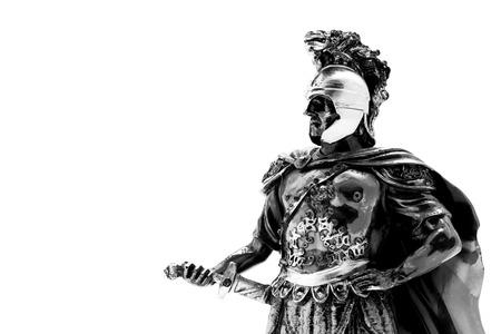 De strijder van Macedonië die op de witte achtergrond wordt geïsoleerd