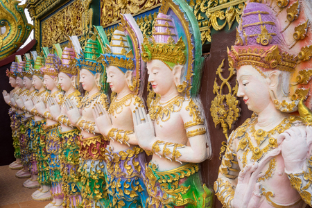 angles: Angles in Sangkaew Potiyan Temple in Chiang Rai Province Stock Photo