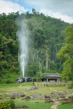 Fang hot spring is one of the most famous hot spring in Thailand which located in Doi Pha Hom Pok National Park. Its temperature between 90 and 100 Celsius. The thermal power plant located here and it also provide mineral sauna to tourists.