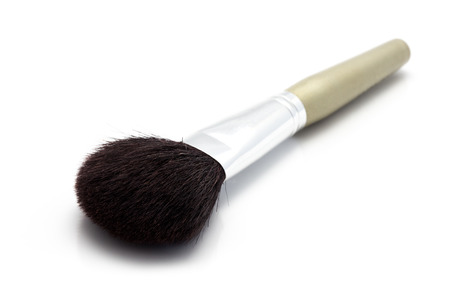 defining: Professional cosmetic brush isolated on the white background Stock Photo