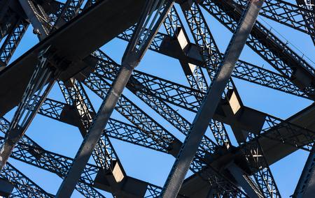 Sydney Harbor Bridge Structure, close up
