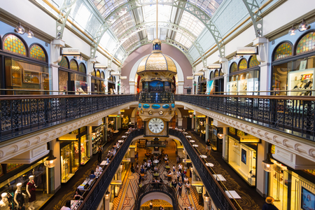 Sydney, Australia - February 22, 2017: Queen Victoria Building the historic and fantastic shopping mall in Sydney.