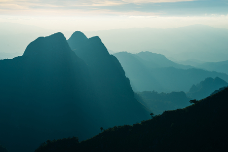 Landscape of Doi Luang Chiang Dao, The third highest mountain in, Thailand Banque d'images