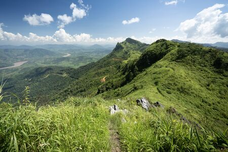 Landscape of Phu Chi Fa Forest Park, it is one of the most favourite tourist destination in Chiang Rai Province, Thailand Banque d'images