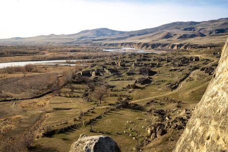 View of Uplistsikhe Cave Town in Gori, Georgia.