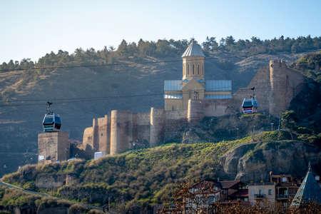 TBILISI, GEORGIA - Mar 4, 2019: Narikala Fortress Georgia In Tbilisi