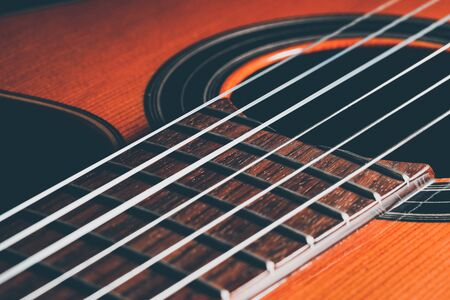 Guitar classic, close up shot