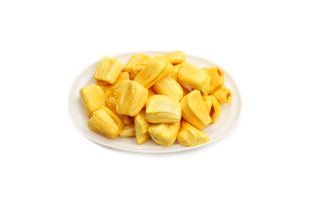 Jackfruit isolated on white background.