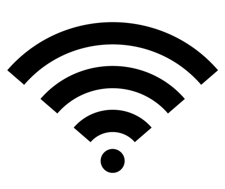 Wifi wireless internet signal flat icon