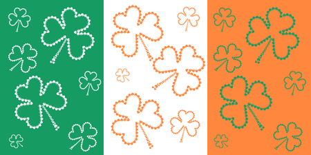three leafed: St. Patricks Day shamrock flag with small