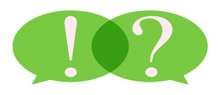 Speech Bubble with question mark and exclamation mark