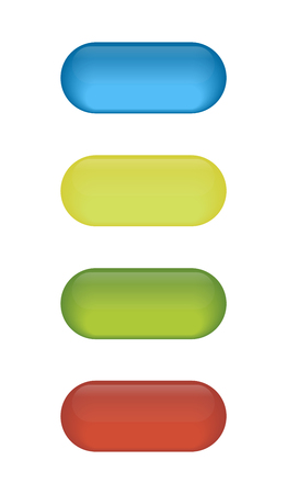 Set of glossy button icons for your design Illustration