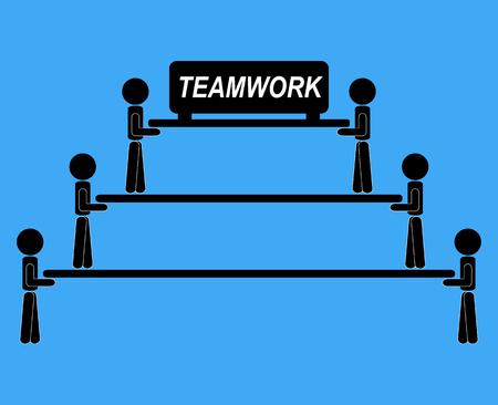 Team work together illustration vector idea communication.