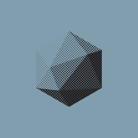 Color abstract shape with low-poly, polygonal triangular.