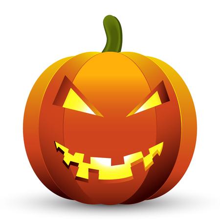vecor: Pumpkin icon Halloween vecor illustration isolated background. Illustration