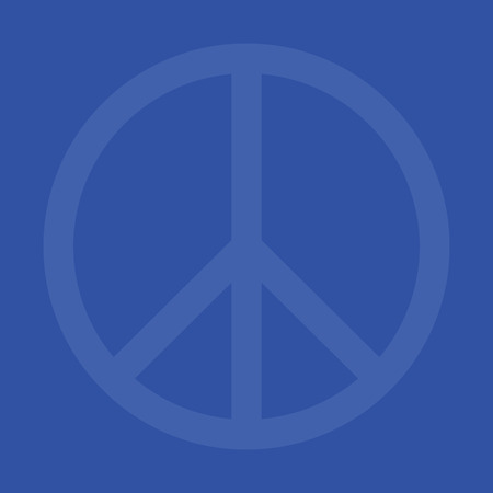 Peace wallpaper trendy pattern background web page design in blue color. Illustration