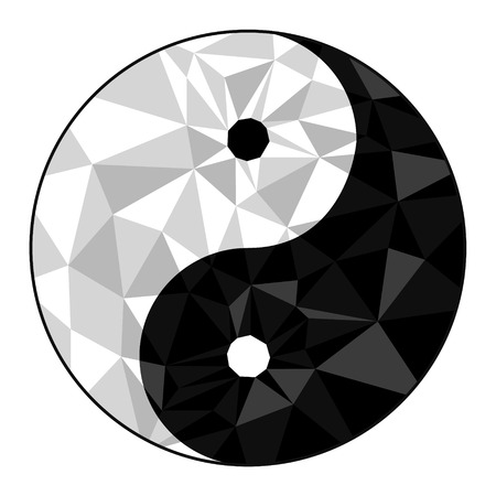 Yin yang symbol of harmony and balance .