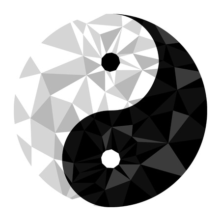 Yin yang symbol of harmony and balance .