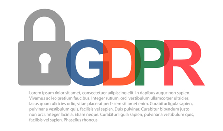 Gdpr general data protection regulation. Eu safeguard regulations and data encryption vector concept background .