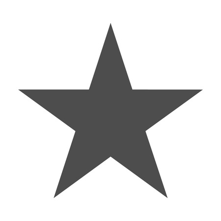 Star icon vector. Classic rank isolated. Trendy flat favorite design. Star web site pictogram, mobile app .