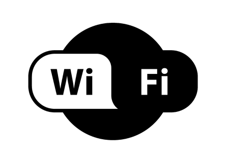 Wifi  zone location wireless internet signal flat - for stock ,icon . Ilustração