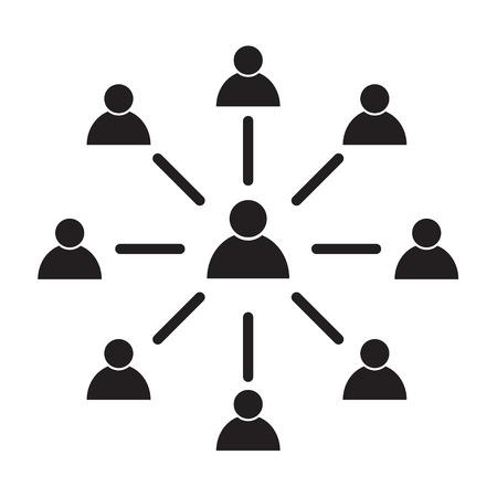 employee engagement icon, symbol on white background. Illustration design .