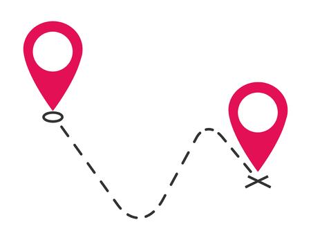 Vector pictogram, symbool verplaatst aankondiging ontwerp afbeelding geïsoleerd op een witte achtergrond.