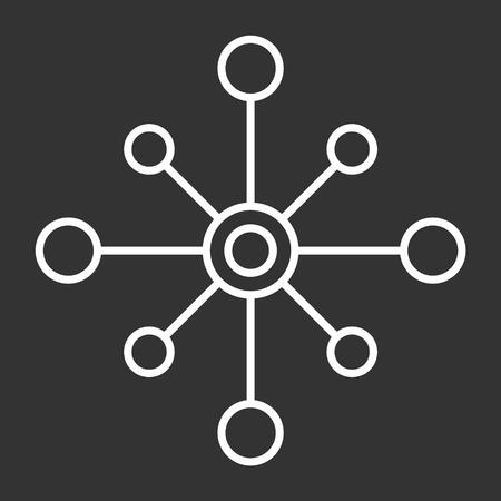 vector icon isolated multichannel on dark background, multichannel design .