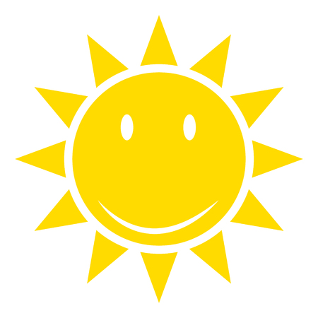 Sun or sunshine as a vector on a isolated background illustration .