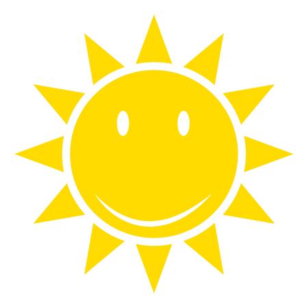 Sun or sunshine as a vector on a isolated background illustration . 版權商用圖片 - 109844612