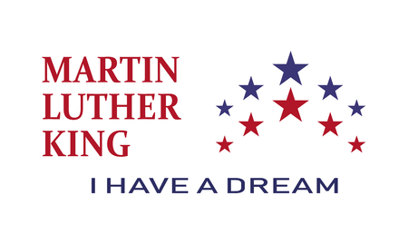 Martin Luther King day, I have a dream ,  icon illustration . Illustration