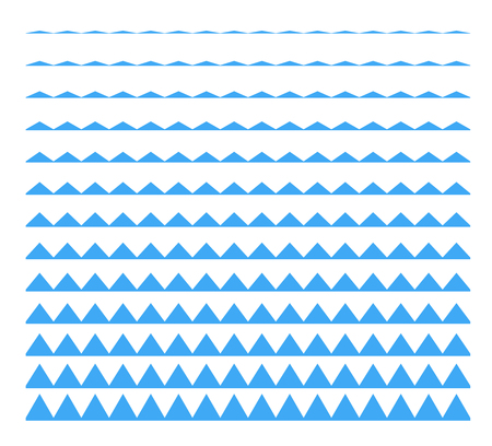 Set of vector seamless borders zigzag. Graphic new modern design elements .