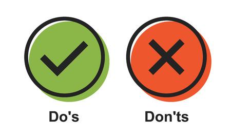 Sprachsymbol-Vektorblase wie Dos und Donts. flacher einfacher Trend modernes Logo-Grafikdesign.