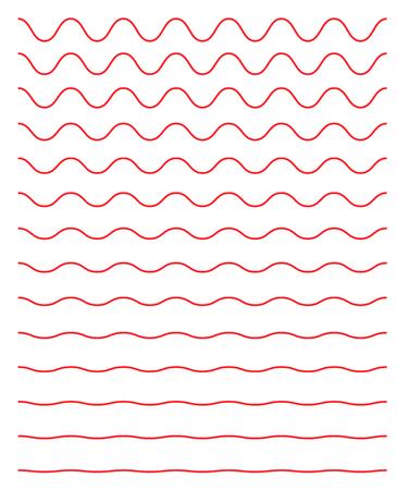 Set of wavy horizontal lines. Vector simple new design element .
