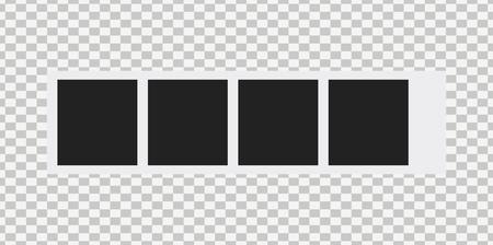 Vecchia cornice per foto isolata su sfondo trasparente. Vettore di cornice vuota. Vettoriali