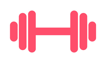 Fitness weight icon, lifting symbol. Gym illustration, vector . Illustration
