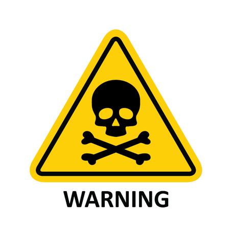 Hazard warning symbol vector icon flat sign symbol with exclamation mark isolated on white background . Ilustração