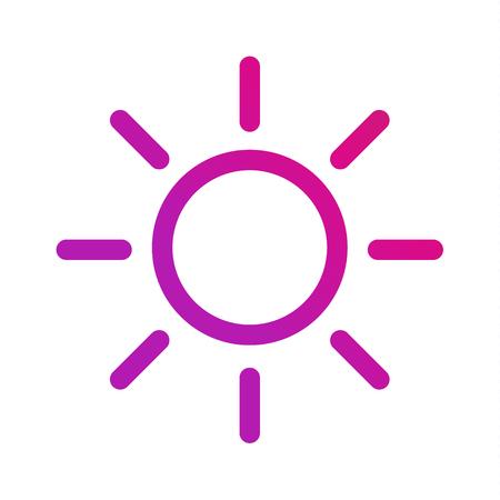 Brightness intensity icon. Isolated vector symbol on white background . Ilustração