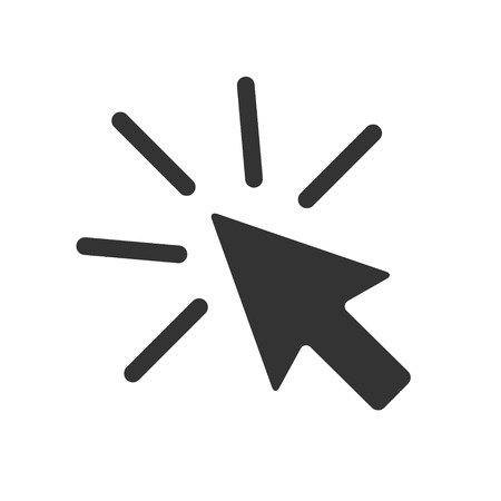 Click icon arrow mouse on white background. Vector Illustration .