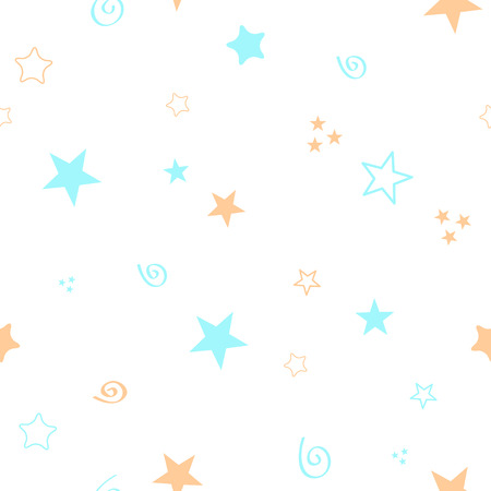 Seamless color pattern for your baby set on white background. Happy child vector . Illustration