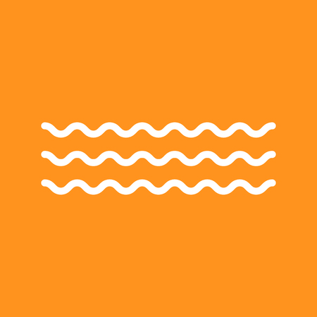 Wave icon vector on color background. Isolated illustration symbol . Illustration