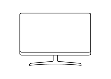 Monitor flat icon isolated on white background. Modern vector illustration