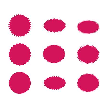 Speech bubbles set icon vector. Burst sticker, sale illustration . Illustration