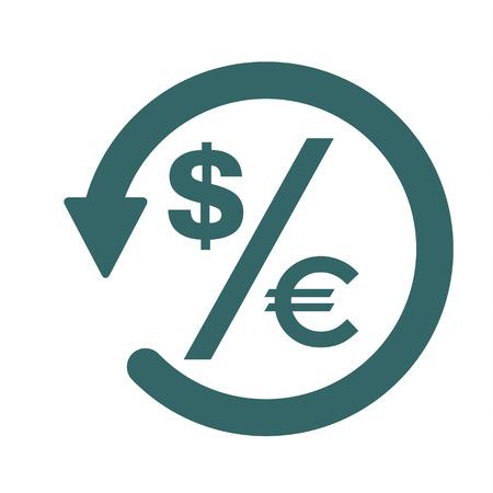 Chargeback icon symbol, return money isolated on white background . 矢量图片