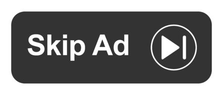 Skip ad button web icon isolated on the white background .