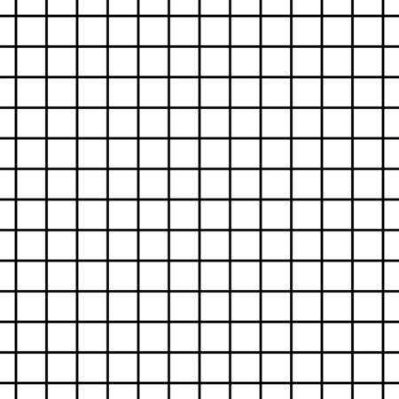 Seamless black and white cell grid striped isolated on white background . Illustration