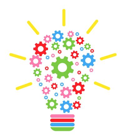 Lightbulb gears icon settings , for mobile applications web sites etc. Vector illustration .