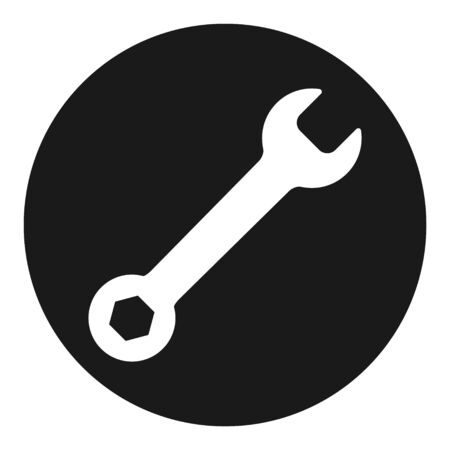 Wrench icon in flat style isolated on white background. Spanner symbol for your web site design, logo, app, UI etc .