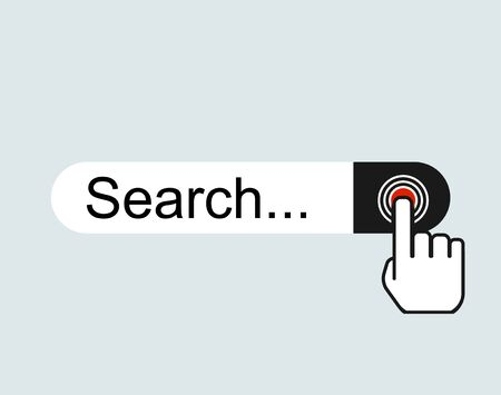 WWW internet search bar icon isolated on background.  Tool for web site, app, ui and logo .